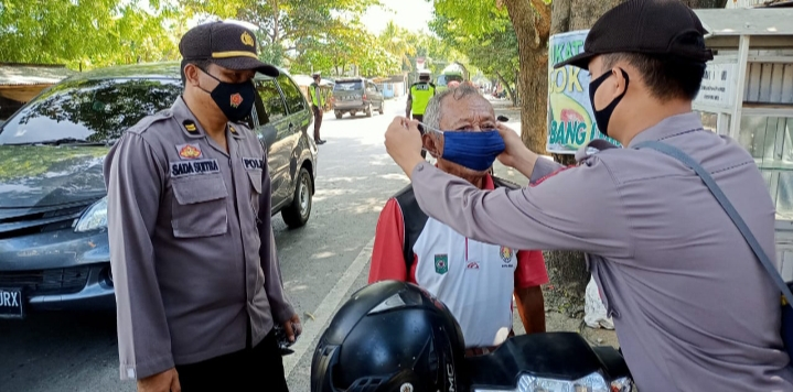 Polres Bima Gencar Sosialisasi Pakai Masker